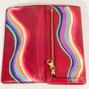 LOEWE X ANTICULTURE Wallet Rainbow Tassel Leather